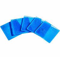 Пластина для стемпинга  большая, пластиковая, 14,5 * 9,5 см (синяя, белая)