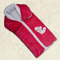 Одеяло-трансформер Малюк Махра/синтепон/кулир Цвет Розовый, Уни Размер 80*90 см Бетис