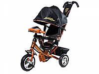 Детский Трехколесный велосипед Lamborghini,колеса пена, фара, ключ зажигания,бронза.
