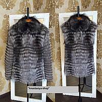 """Модель-трансформер куртка с мехом чернобурки """"Прима"""" ,утепленная синтепоном"""