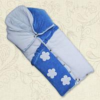 Одеяло-трансформер Умка Велюр/синтепон/кулир Цвет Голубой, Уни размер 80*90 см Бетис