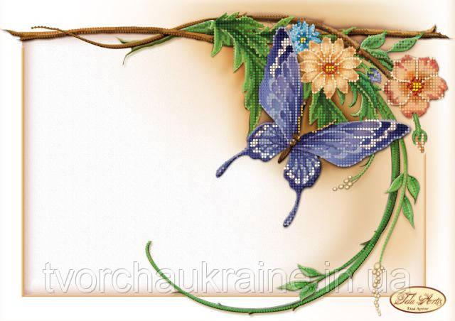 Схема для вышивки бисером Цветочная рамочка