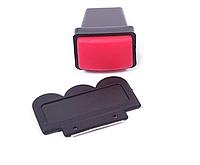 Штамп для ногтей прямоугольный красный