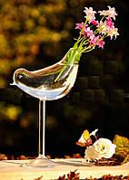 Ваза стеклянная Птичка