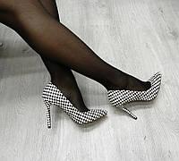 """Элегантные женские туфли - лодочки. Расцветка: """"шахматка"""" 36 37 38 39"""
