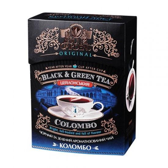 Чай Sun Gardens чёрный+зелёный colombo mix 90г