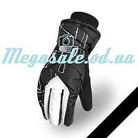 Мужские горнолыжные перчатки Kineed (перчатки лыжные): белый, размер M-L/L-XL