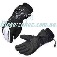 Мужские горнолыжные перчатки Kineed (перчатки лыжные): белый, размер M-L, L-XL