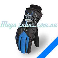 Мужские горнолыжные перчатки Kineed (перчатки лыжные): синий, размер M-L, L-XL