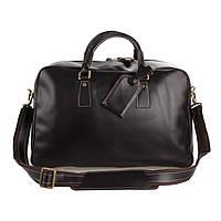 Кожаная дорожная сумка TIDING BAG 7156С коричневая