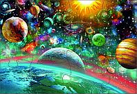 """Пазл """"Феерверк планет"""" 10*15 см магнитный"""