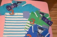 Трикотажная рубашка-поло для мальчиков 4-10 лет