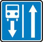 Дорожные знаки Информационно-указательные знаки Дорога с полосой для движения маршрутных транспортных...  5.8