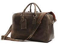 Кожаная дорожная сумка TIDING BAG 7156R капучино