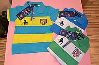 Трикотажная рубашка-поло для мальчиков 1-4  лет, фото 1