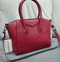 Женская большая сумка красного цвета из эко кожи Givenc.... Материал эко кожа. Размер 37х25