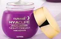 Нічний крем для обличчя Farmasi Hyacure 35+, 50 ml.