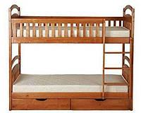 Кровать двухъярусная Лола Люкс из натурального дерева 90х190 см