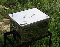 Коптильня из нержавейки с термометром 400х300х280