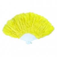 Веер перо (желтый)