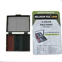 Грим маскировочный Helikon BRD трехцветный