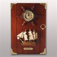 "Ключница настенная с часами ""Для моряка"""