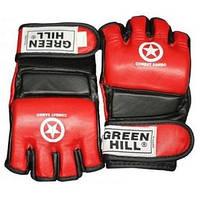Перчатки для боевого самбо Green Hill MMA-0027 красные - S