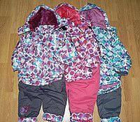 Куртка цветная с капюшоном  и  комбинезон еврозима 104р