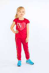 Брюки спортивные для девочки красные
