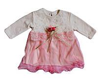 Нарядное платье для девочки на крещение 3-6 мес.