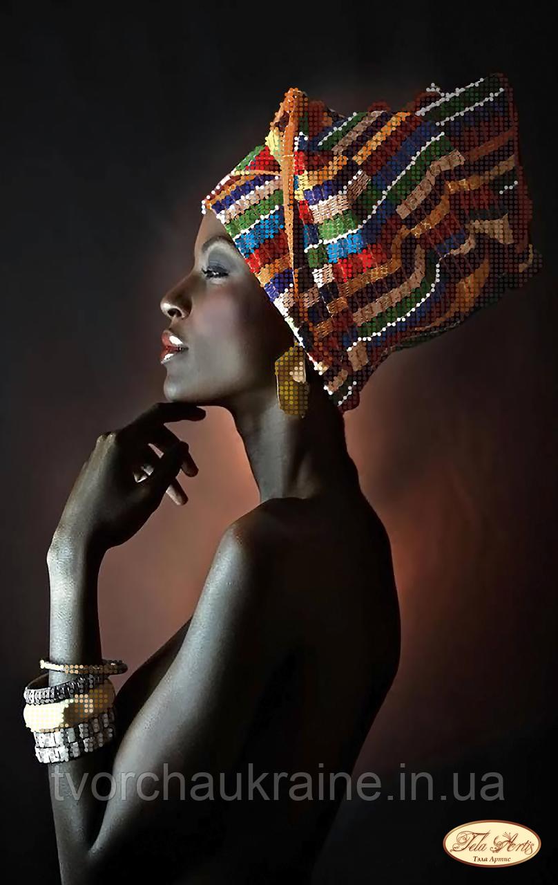 Схема для вышивки бисером Африканка