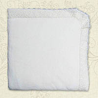 Плед Ажур Весна-Осень Велюр/кулир Цвет белый, молочный размер 80*90 см Бетис