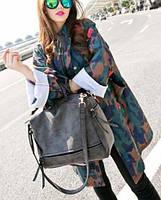Вместительная женская сумка Нубук