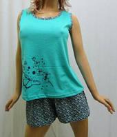 Пижама шорты с майкой хлопок, Харьков 42-54 размеры мята