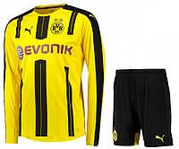 Футбольная форма Боруссия Дортмунд с длинным рукавом (Borussia Dortmund) 2016-2017 Домашняя