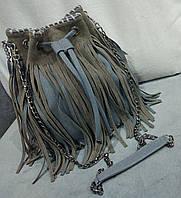 Женская сумка-мешок темно-зеленого цвета из эко кожи Stella McCartn... Материал эко кожа. Размер 32х30
