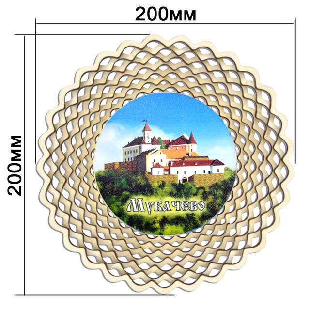 Деревянные сухарницы с достопримечательностями городов Украины