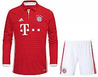 Футбольная форма ФК Бавария Мюнхен с длинным рукавом (FC Bayern Munchen) 2016-2017 Домашняя
