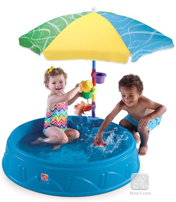 Бассейн садовый с зонтиком  Play & Shade Step2 71600