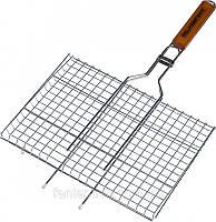 Решетка-гриль, барбекю Stenson MH-0160 двойная, плоская средняя (58х34х22)