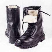 """Ботинки хромовые с высокими берцами """"ЛЕГИОН"""" на меху"""