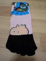 """Женские носки с пальчиками, розовые цветом, """" Мордочка """""""