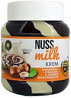 Шоколадный паста (крем) шоколадно-молочная с орехом NUSS MILK krem Польша 400г
