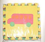 Развивающий коврик Мозаика 0377 EVA Транспорт,10 шт., 30-30 см, фото 4