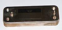 Теплообменник вторичный, пластинчатый  12 пластин для котлов Baxi. Код: 17B2071200