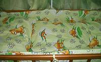 Постельное белье с балдахином! 8 предметов. Цвет: салатовый. Пчелки и мишка