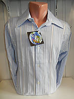 Рубашка мужская DEGER длинный рукав, жатка, с рисунком. 002 купить рубашку