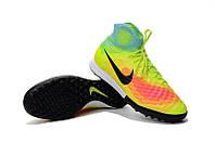 Nike MagistaX Proximo II TF light green магиста сороконожки