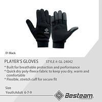 Перчатки спортивные BestTeam GL-24042 черные