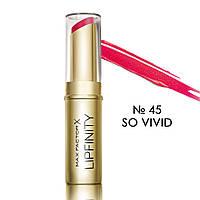 MF Lipfinity Long Lasting N45 So Vivid - Стойкая губная помада, 4 мл